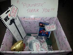 Finished Puntastic gift